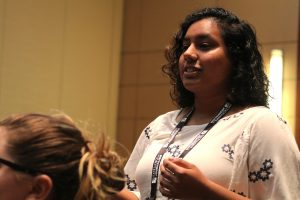 """Fareeha Rehman, recent George Mason University graduate - """"I wish all the panels could look like this without having to be on this topic."""""""